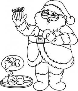Père Noël 13 - motif à imprimer