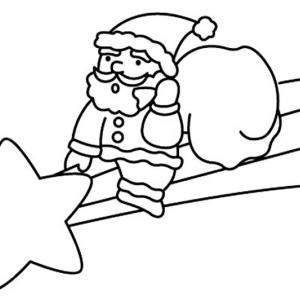 Père Noël 15 - motif à imprimer