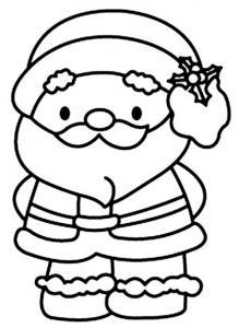 Père Noël 16 - motif à imprimer