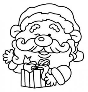 Père Noël 17 - motif à imprimer