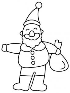 Père Noël 19 - motif à imprimer