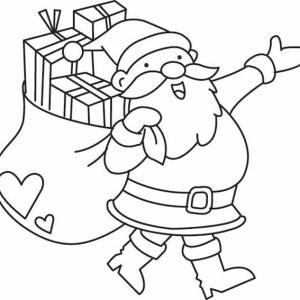 Père Noël 24 - motif à imprimer