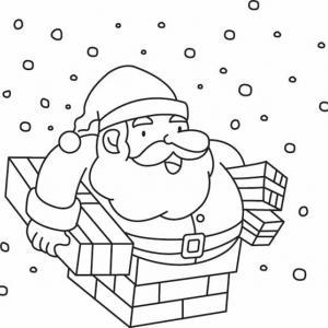 Père Noël 25 - motif à imprimer