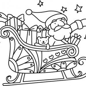 Père Noël 28 - motif à imprimer