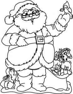 Père Noël 29 - motif à imprimer