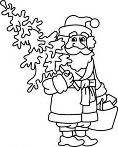 Père Noël 31 - motif à imprimer