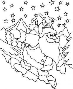 Père Noël 32 - motif à imprimer
