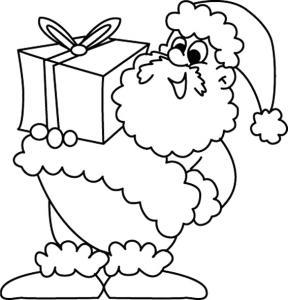 Père Noël 36 - motif à imprimer