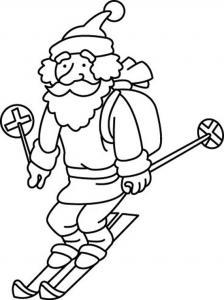Père Noël 37 - motif à imprimer