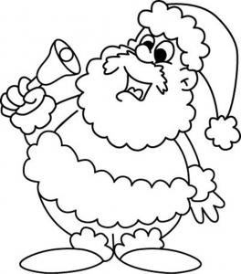 Père Noël 38 - motif à imprimer