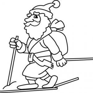 Père Noël 40 - motif à imprimer