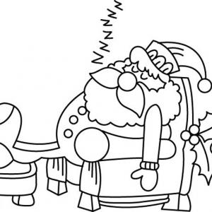 Père Noël 42 - motif à imprimer