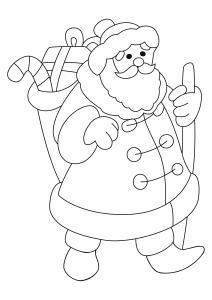 Père Noël 45 - motif à imprimer