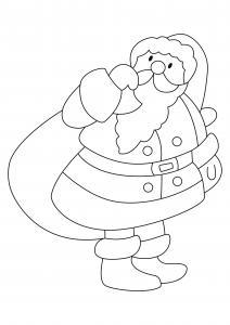 Père Noël 46 - motif à imprimer