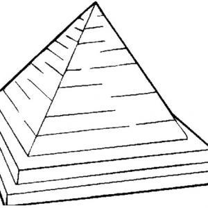 Pyramide - motif à imprimer