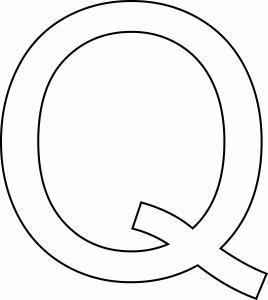 Q majuscule - motif à imprimer