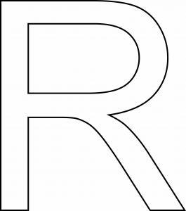 R majuscule - motif à imprimer
