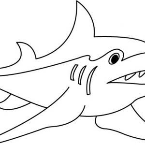 Requin 01 - motif à imprimer