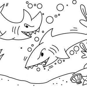 Requin 02 - motif à imprimer