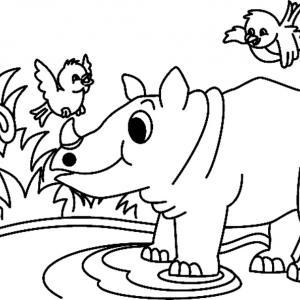 Rhinocéros 01 - motif à imprimer