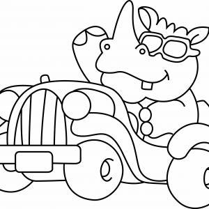 Rhinocéros 02 - motif à imprimer