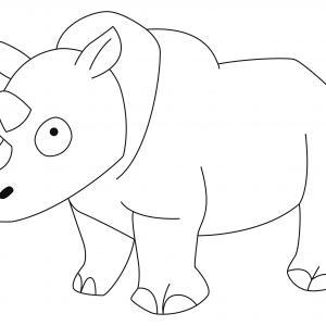Rhinocéros 03 - motif à imprimer