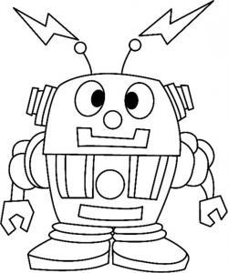 Robot 01 - motif à imprimer