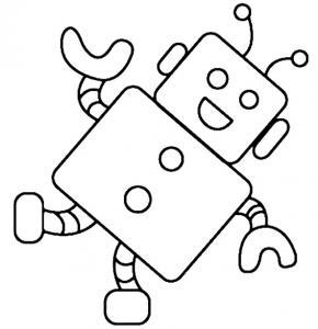 Robot 02 - motif à imprimer
