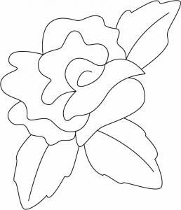 Rose 03 - motif à imprimer