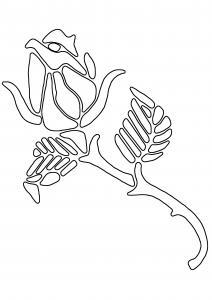 Rose 05 - motif à imprimer