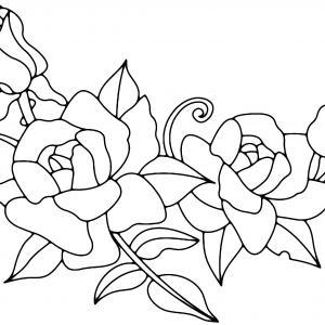 Roses 01 - motif à imprimer