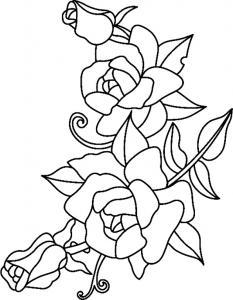 Roses 02 - motif à imprimer
