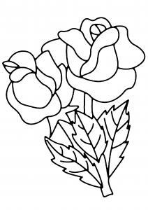 Roses 03 - motif à imprimer