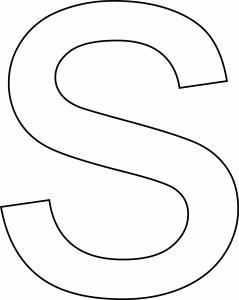 s minuscule - motif à imprimer