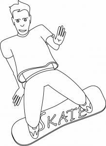 Skateboard 02 - motif à imprimer