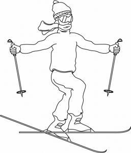 Ski 01 - motif à imprimer