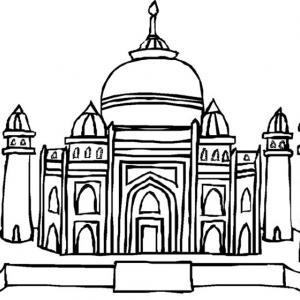 Taj Mahal - motif à imprimer