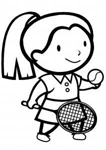 Tennis 01 - motif à imprimer
