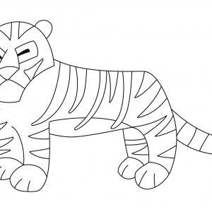 Tigre 01 - motif à imprimer