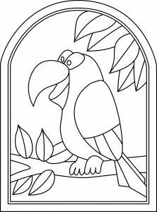 Toucan 01 - motif à imprimer