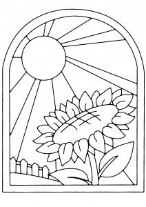 Tournesol 01 - motif à imprimer