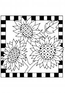 Tournesols 04 - motif à imprimer