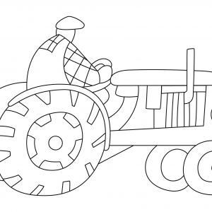 Tracteur 01 - motif à imprimer