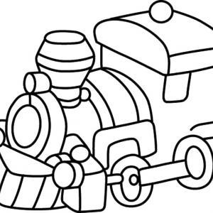 Train 06 - motif à imprimer
