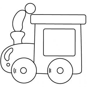 Train 08 - motif à imprimer