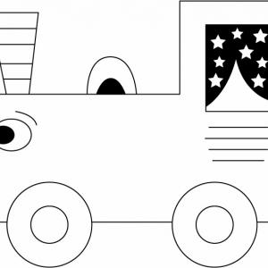 Train 09 - motif à imprimer