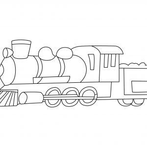 Train 10 - motif à imprimer