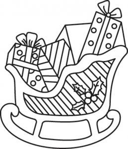 Traîneau 01 - motif à imprimer
