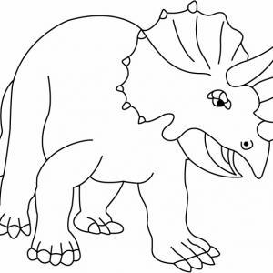 Triceratops - motif à imprimer