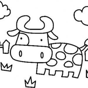 Vache 01 - motif à imprimer